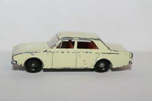 Vintage Lesney Matchbox Series No. 45 FORD CORSAIR ~ Cream, Red Interior