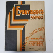 ASSOLO di pianoforte everybody`s CANZONI ARR Henry geehl, 1934