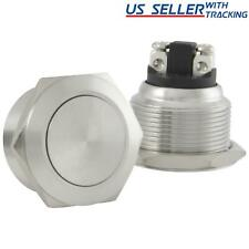 22mm Starter Switch Boat Horn Momentary Push Button Stainless Steel Metal