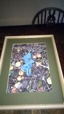 HUMOROUS PHOTO  `DRUNK AGAIN`/FAIRY ASLEEP AMONG  APPLES. FRAMED/UNDER GLASS.