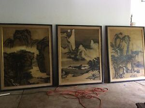 Jade Fon  Historically Significant Set of Three Huge Paintings