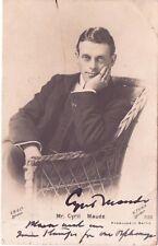 Signed Postcard Mr Cyril Maude R Thiele Postmark London SW 1903 Miss Elsie Marsh