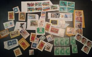 US USA postal service Stamps Lot 60+ Blocks, Bobby Jones, Reagan, nature, vintag