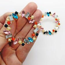 Pastel Pink Statement Rhinestone Pearl Round Hoop Earrings UK Blogger Wedding