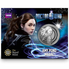 DOCTOR WHO AMY POND MEDAL COIN FROM THE ROYAL MINT
