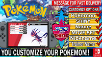 Pokemon Any Custom 6IV Shiny Pokemon for Sword and Shield!!!