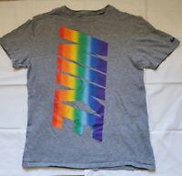 Vintage 90s  Nike T-shirt bold logo grey mens size medium