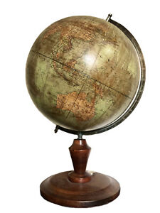 20th Century German Terrestrial Globe by Dietrich Reimers With Compass