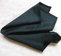 Fazzoletto Cotone Fazzoletto Quadrato da Taschino Uomo Fazzoletto Nero