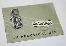 Rolleiflex 4x4 In Practical Use - Vintage Camera Instruction Manual