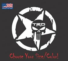 Toyota TRD Skull Star Vinyl Decal Sticker For Tundra Tacoma Racing 4X4 Sport