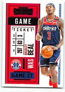 2020-21 Panini Contenders Game Ticket RED Parallel #18 Bradley Beal