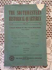 Southwestern Historical Quarterly Texas Historical Association 1950 Dove Creek