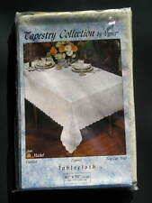 Vintage Vynet Tapestry Collection St Michel Tablecloth Easy Care Vinyl 60 x 90
