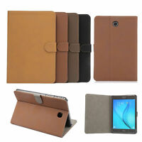 Retro Matte Leather Folding Folio Smart Case Cover For Samsung Galaxy TAB A S4