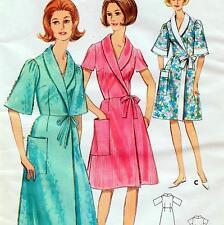"Vintage 60s WRAP DRESS & DRESSING GOWN Sewing Pattern UNCUT Bust 38"" Sz 14 RETRO"