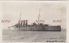 "Royal Navy Real Photo RPPC. HMS ""London"" Cruiser. At Trials. Before Refit. 1928"