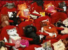 """Ravensburger """"Kitty Cinema"""" 200 Piece Puzzle XXL Ages 7 and Up NEW SEALED"""