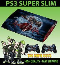 Playstation PS3 Super Slim Bayonetta Hexe Haut Sticker & 2 Pad Felle