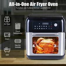 10L Fritteusen Heißluftfritteuse Ofen Drehspieß Grill Pommes Air Fryer 1500W