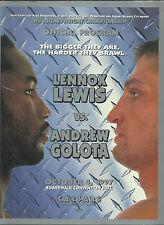 1997 Lennox Lewis v Andrew Golota + Arturo Gatti v Ruelas World Title Programme