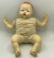 "Vintage Ideal Thumbelina 18"" Baby Doll TT-21 vinyl & cloth 1983"