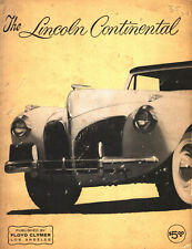 THE LINCOLN CONTINENTAL ZEPHYR HISTORY DIAGRAMS H-SERIES V-12 MARK II COLOR CODE