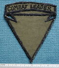 'COMBAT LEADER', RECONDO POCKET PATCH, SUBDUED, NAM MACHINE SEWN, EARLY VARIATON