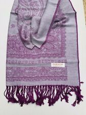 NEW SCARF WATER SHAWL WRAP PASHMINA SILK PURPLE NEPAL HANDMADE HEADSCARF