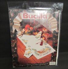 "Bucilla Table Runner Stamped Cross Stitch Kit #82981 Christmas Music 14"" X 44"""