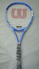 Wilson Federer Tennis Racquet Racket 4 3/8 GRIP Blue Autograph -FREE SHIPPING !!
