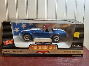 Ertl American Muscle Shelby Cobra 427 1:18 Scale Diecast 1965 Model Car