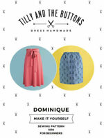 Womens BEGINNER The Dominique Skirt UK SIZES 6-20 Ladies Sewing Pattern