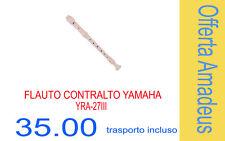 Yamaha Yra27iii Flauto Dolce contralto in FA Bianco