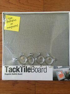 Neat Life Tack Tile Board Magnetic Bulletin Board New