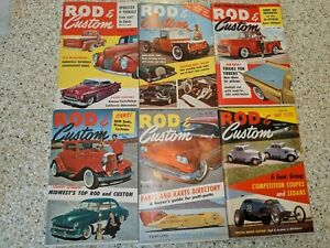 Lot 6 Issues Rod & Custom Little Pages Magazines 1958 1959 1960