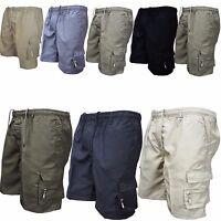 Mens Summer Multi Pocket Shorts Work Casual Military Combat Cargo Short Pants