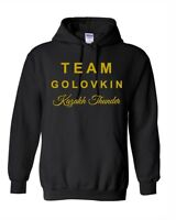 TEAM GOLOVKIN HOODIE BLACK AND GOLD/WHITE KAZAKH THUNDER GGG GENNADY GOLOVKIN
