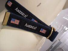belt mens usa SMALL USA BELT RED WHITE AND BLUE COOL BELT Small unisex americana
