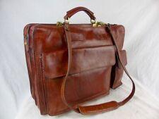 THE BRIDGE Large Classic brown Leather Briefcase 42cm wt shoulder strap