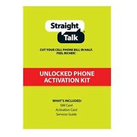 Straight Talk SIM Card AT&T Compatible Standard Or Micro Size Activation Kit BMB