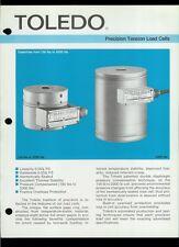 Rare Vintage Orig Toledo Scale Dealer Sheet Page: Precision Tension Load Cells