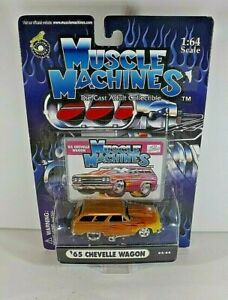 Muscle Machines Gold & Yellow with Flames '65 Chevelle Wagon   2003