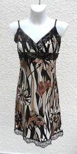 Robe Bretelles Filles De Paris Ton Marron Noir Beige Taille 2