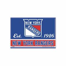 New York Rangers Photo Aimant avec Logo NHL Hockey sur Glace Team Gründungsjahr