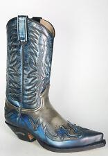 3241 Sendra Cowboystiefel Denver Azul Hueso Westernstiefel Blau