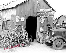 Photograph of a 1936 San Antonio Texas  Blacksmith Shop  8x10