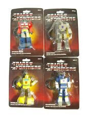 Transformers G1 Keychain / Bag Clip - Complete set of 4 MOSC Optimus Soundwave