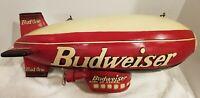 "Budweiser Bud One Vintage 25"" Hanging Resin Wood Blimp Bar Man Cave Breweriana"