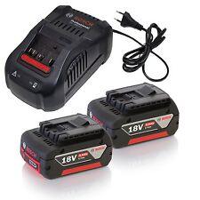 Bosch Akku-Lader Starter-Set 2x Akku GBA 18V 5,0 Ah M-C + GAL1880 CV Ladegerät